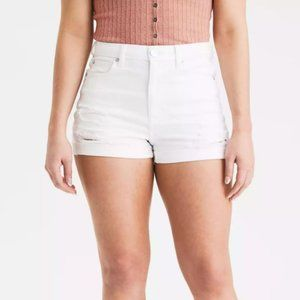 American Eagle High Waisted Ripped Jean Shorts 6